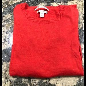 Max Studio Red-Orange Wool Sweater. Size M.